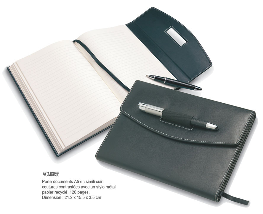 Articles de bureau bloc notes objets promotionnels aic cr ations - Porte document de bureau ...
