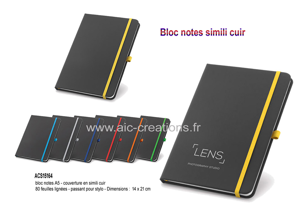 bloc notes A5 couverture en simili cuir, cadeaux d'affaires bloc notes simili cuir,