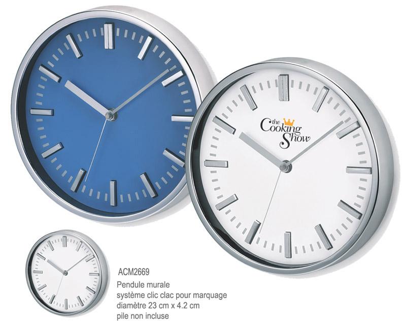 Horloge publicitaire objets publicitaires horlogerie aic - Horloge murale personnalisable ...