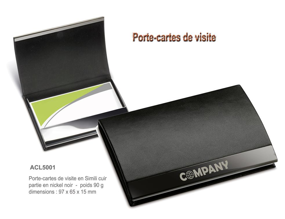 Articles de bureau bloc notes objets promotionnels aic cr ations - Porte carte de visite en cuir ...